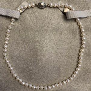 Tiffany & Co. Iridesse White Pearl Necklace Strand
